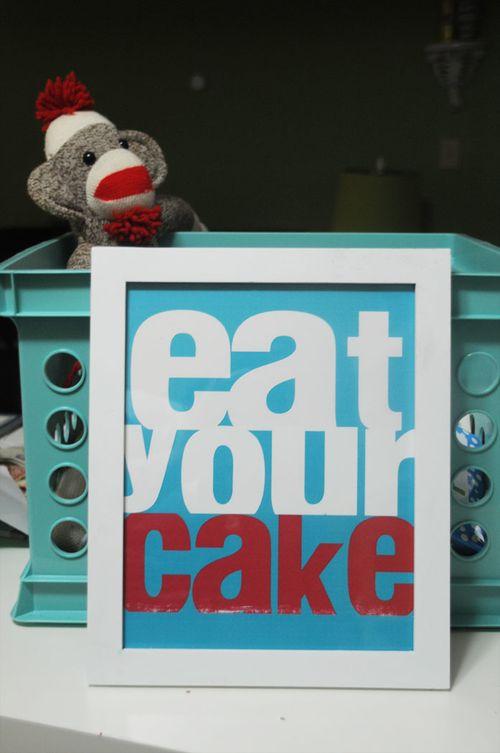 Eat your cake monkey