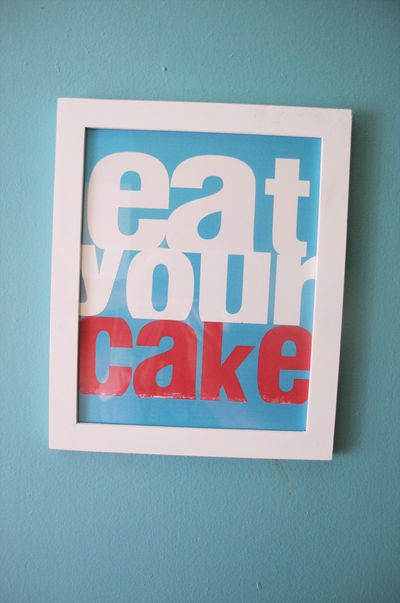 Eat your cake wall