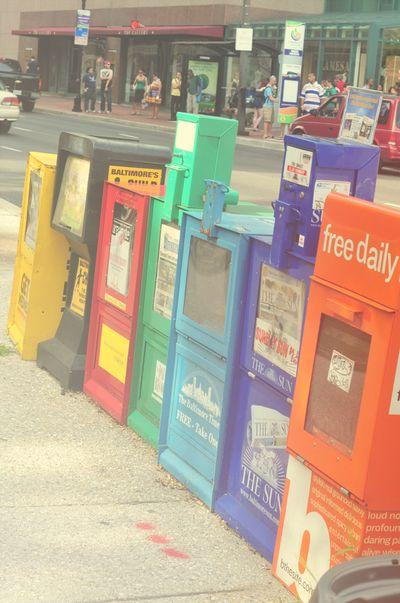 Newspaper rainbow