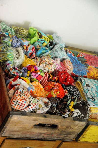 Organize fabric closeup