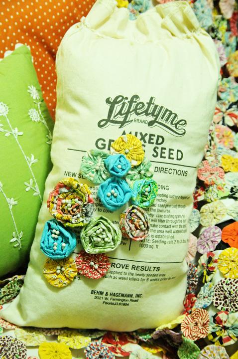 Handmade feed sack