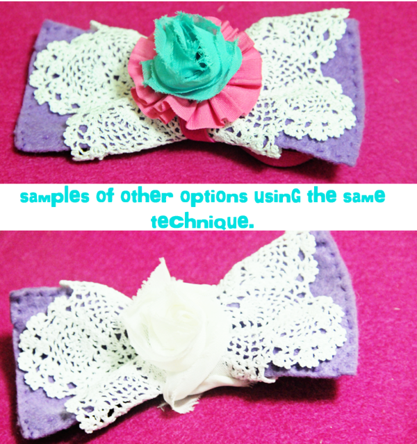 Bowtie headband samples