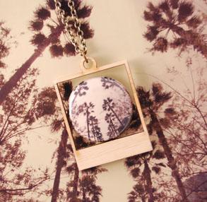 Polaroid necklace