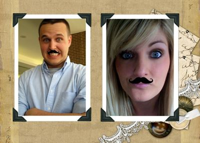 Mustache collage