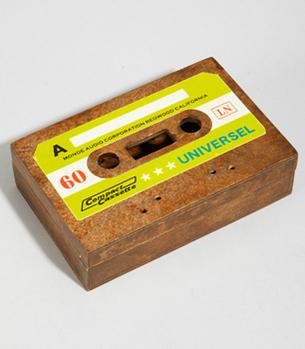 Cassette wooden box