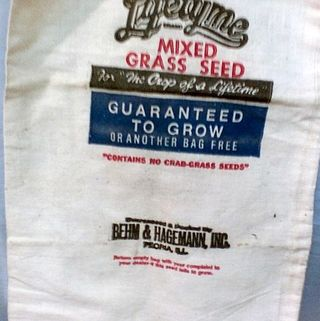 Lifetyme grass seed bag